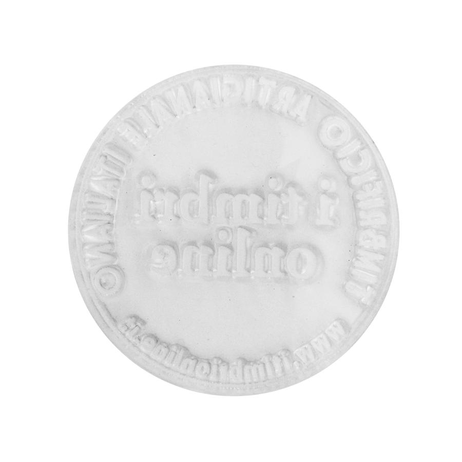 Gomma per timbro rotondo Ø 40mm con bi-adesivo